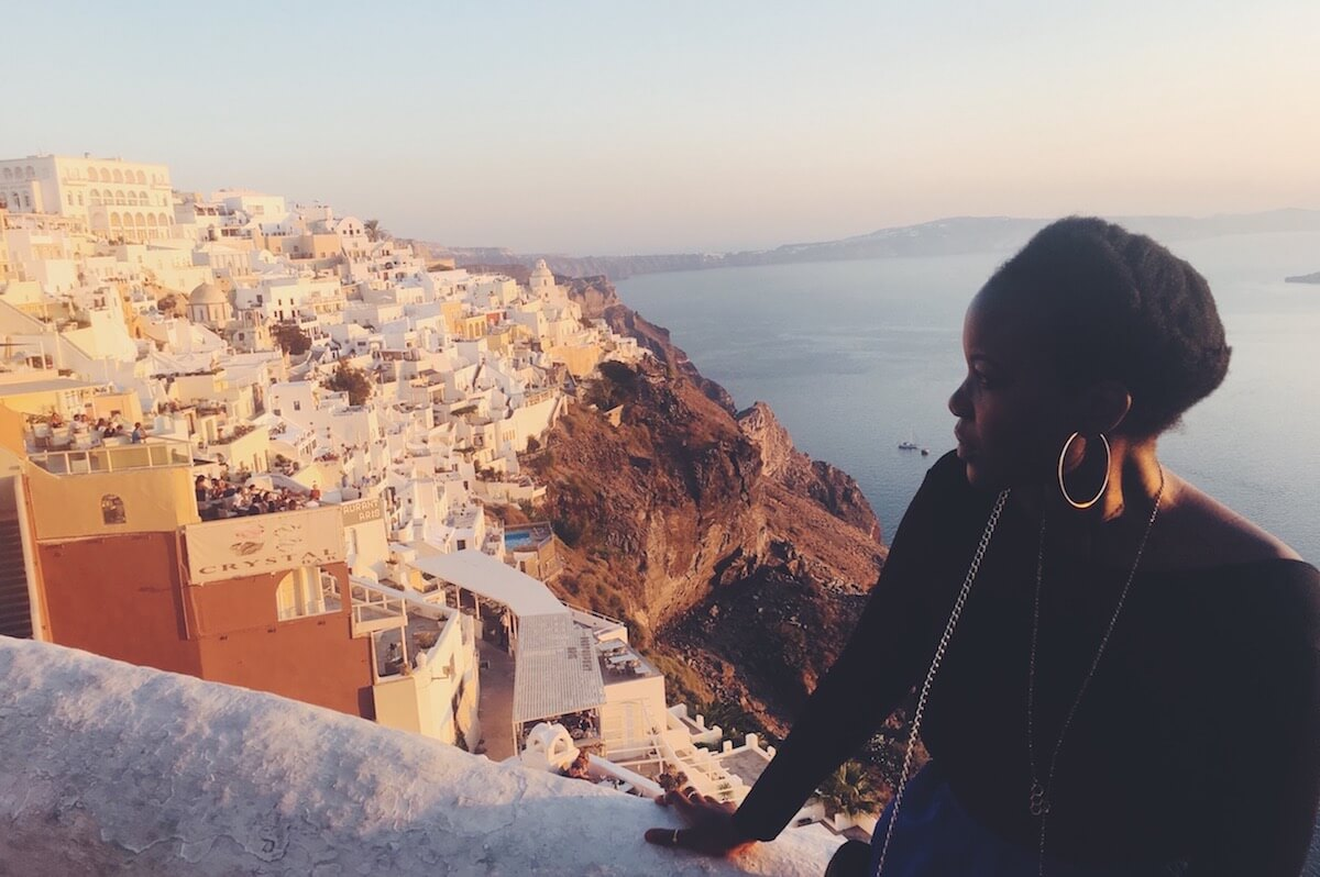 digital nomad travel guide santorini