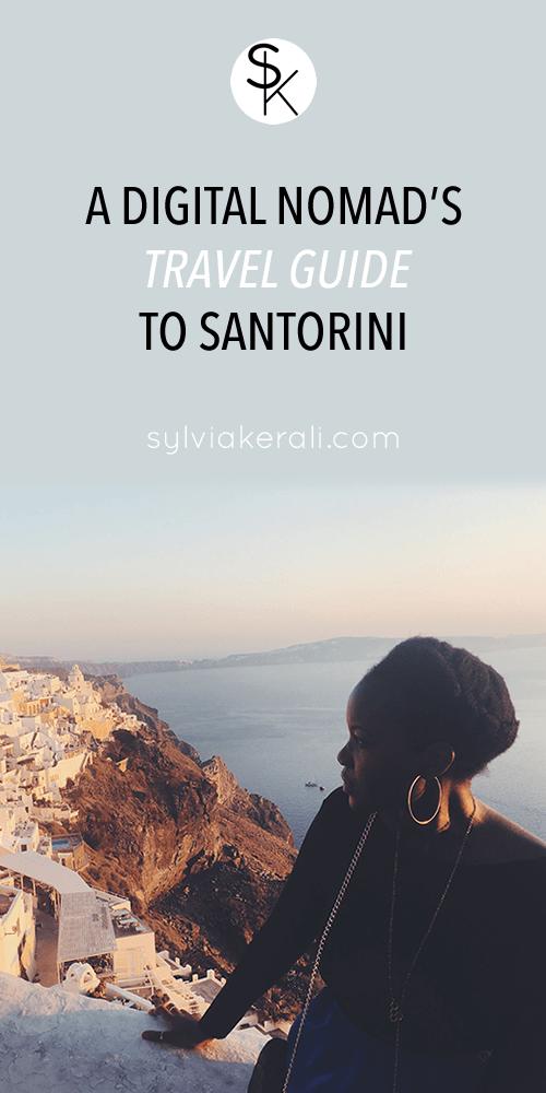 digital nomad travel guide santorini