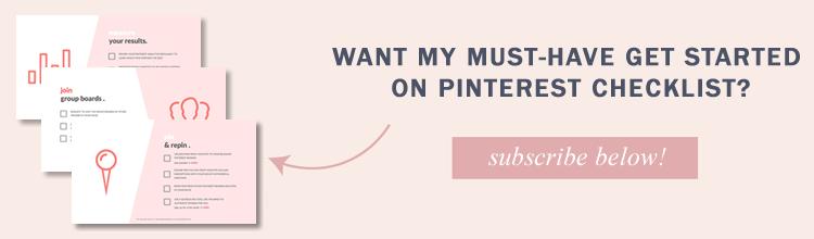 pinterest checklist email list